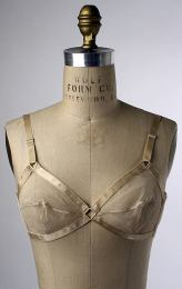 A very sheer wire free bra from the 1940's made from silk (photo from The Metropolitan Museum of Art)